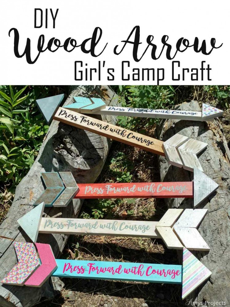 DIY wood arrow makes a fun project for craft night. We made these at girls camp and they were so fun! Free plans and tutorial.