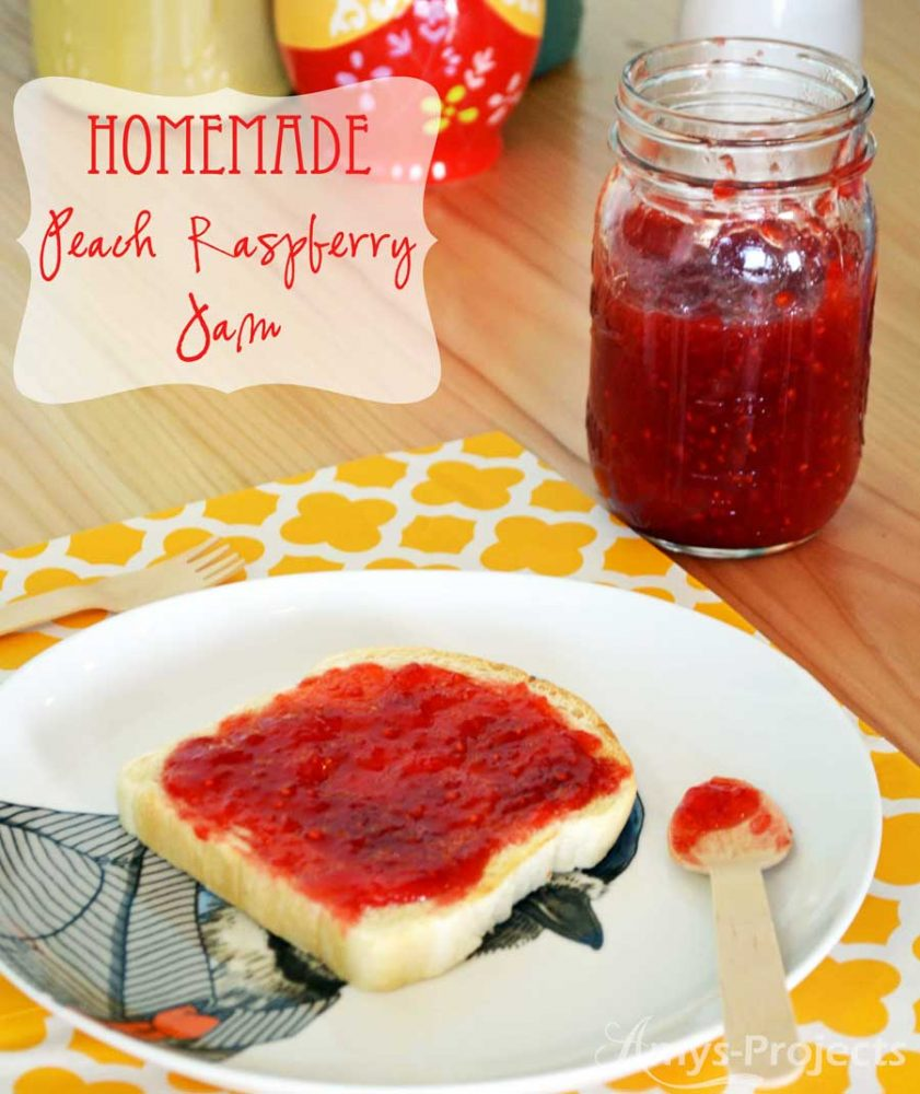 Delicious Peach Raspberry Jam Recipe; Everyone always wanted Mom to bring this jam to potlucks.