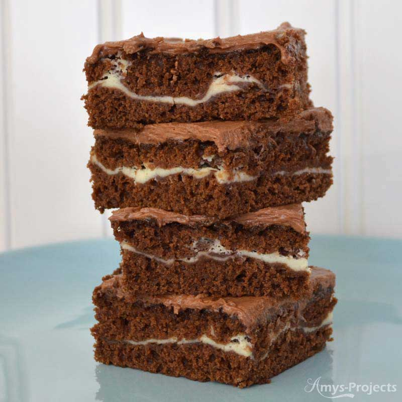 Layered Cream Cheese Brownies