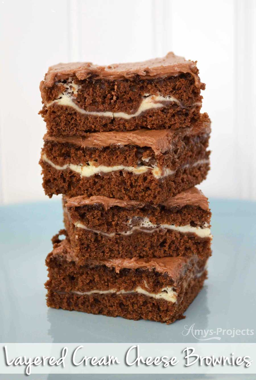 These are the best brownies ever, layered cream cheese brownies. You'll have dreams about these babies!
