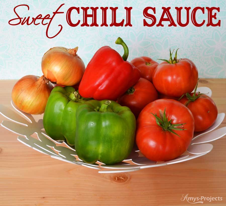 Delicious recipe for fresh sweet chili sauce. We love chili sauce on our meatloaf and in baked beans.