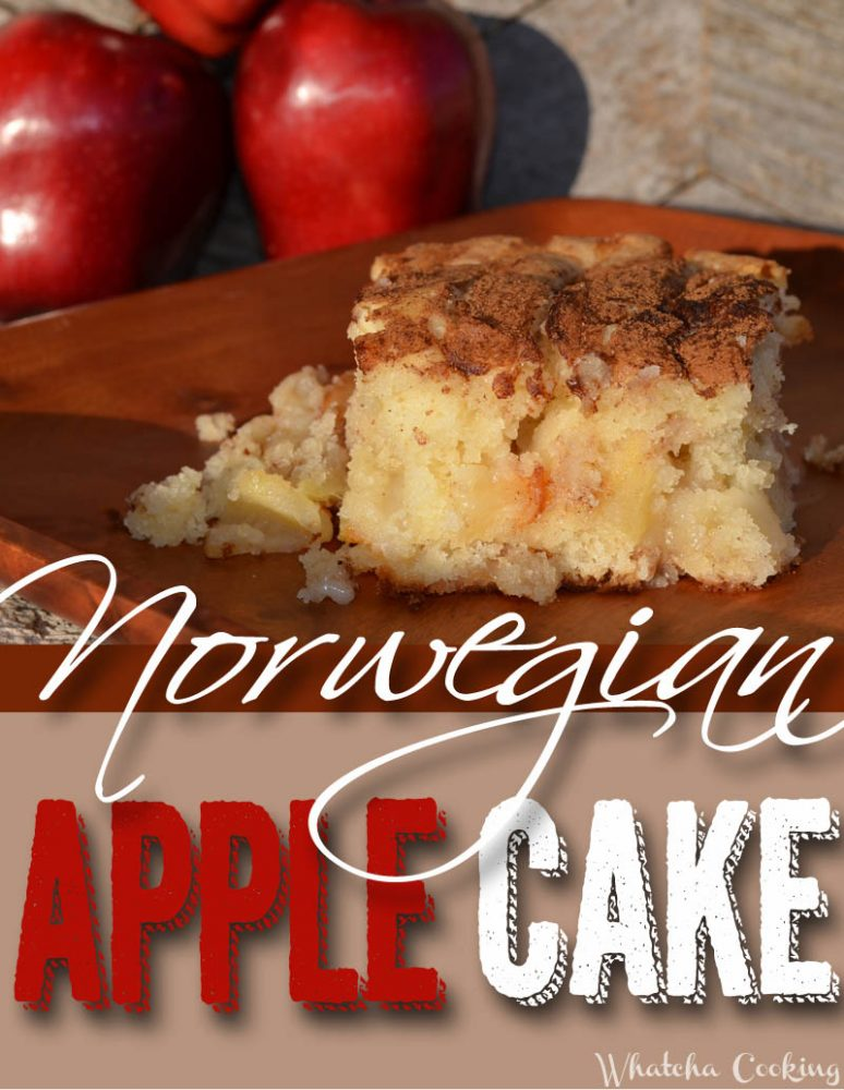 Norwegian Apply Cake recipe whatchacooking