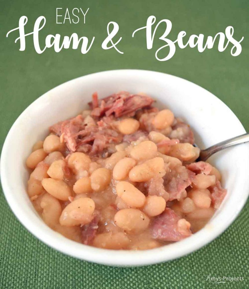A perfect dish to polish off that ham, this easy ham and beans recipe uses the ham bone to add tons of flavor to the soup.